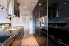 Przesmyk lacquered kuchnia obrazy royalty free