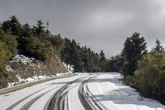 Przesmyk, wiejska droga w górach obrazy royalty free