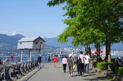 Przespacerowanie wzdłuż Vancouver dennej ściany fotografia royalty free