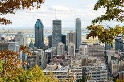 Przestój Montreal w spadku zdjęcia stock