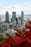 Przestój Montreal w spadku fotografia stock