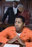 Przestępca W sala sądowej Fotografia Stock