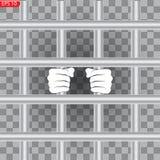 Przestępca w więzieniu, przerwa royalty ilustracja