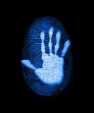 przestępstwa odcisku palca ochrona ilustracja wektor