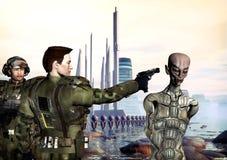 przestępstwa przyszłości wojna royalty ilustracja