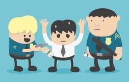 Przestępstwo bad policją royalty ilustracja