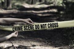 przestępstwo krzyż no nie scena Zdjęcia Stock