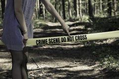 przestępstwo krzyż no nie scena Fotografia Royalty Free