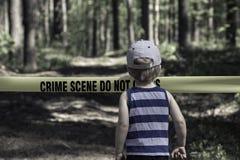 przestępstwo krzyż no nie scena Zdjęcie Royalty Free