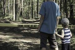 przestępstwo krzyż no nie scena Zdjęcia Royalty Free