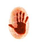 przestępstwo odcisku palca ochrona Obrazy Stock