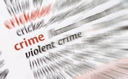 przestępstwo przemoc obraz stock