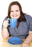 przestań bizneswomanu kawy obraz stock
