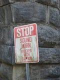 przestań dźwięk rogu Zdjęcia Royalty Free