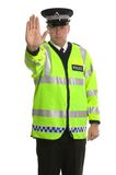 przestań policji ruchu Fotografia Stock