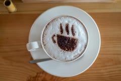 przestań tła rogalik filiżanki kawy sweet Zdjęcia Stock