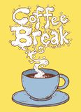 przestań tła rogalik filiżanki kawy sweet Obraz Stock