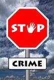 przestań zbrodni Obrazy Royalty Free