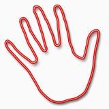 przestań czerwonej ręki Zdjęcia Royalty Free