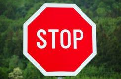 przestań szyldowa Zdjęcia Stock
