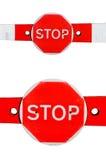 przestań szyldowa 2 bariery Zdjęcie Royalty Free