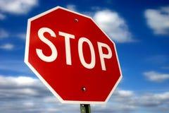 przestań szyldowa Fotografia Stock