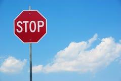 przestań szyldowa Obrazy Stock