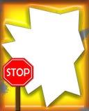przestań szyldowa ramowe Zdjęcie Stock