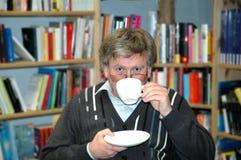 przestań tła rogalik filiżanki kawy sweet Zdjęcie Stock