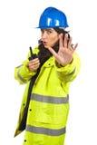 przestań walkie - talkie rozkaz mówi radio Zdjęcie Stock