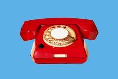 Przestarzały czerwony telefon obrazy royalty free
