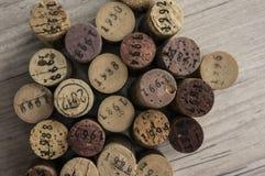 Przestarzali wino butelki korki Obraz Royalty Free