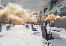przestawny biuro w chmurach obraz stock