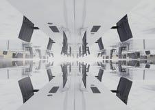 przestawny biuro w chmurach Obraz Royalty Free