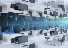 przestawny biuro z linią horyzontu Obraz Stock
