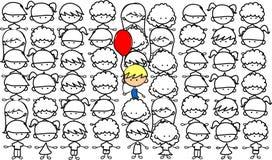 przestraszony dzieckiem ślicznym jest lubi nie lubić royalty ilustracja