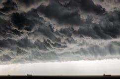 Przestraszyć chmury fotografia stock