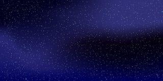 Przestrzeń gra główna rolę tło Wektorowa ilustracja nocne niebo 10 eps ilustracji