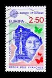 Przestrzeń i Guyana, Europa C e P T 1991 seria około 1991, Zdjęcie Stock