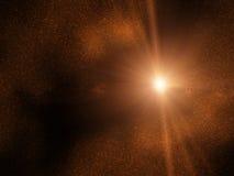 Przestrzeń - starfield - słońce Obraz Royalty Free