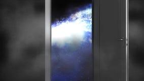 Przestrzeń, wszechświat Otwarte drzwi przestrzeń royalty ilustracja