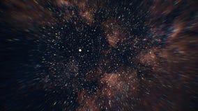 Przestrzeni gwiazd podróż Bezszwowy looping Latać przez nebulas i gwiazd ilustracji
