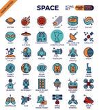 Przestrzeni i galaxy ikony Fotografia Royalty Free