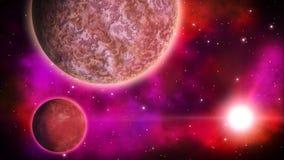 Przestrzeni planety pętla ilustracja wektor