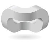 Przestrzenny paradoks, Esher ` s schody nieskończona zasada Isometric łukowaci kształty Zdjęcie Royalty Free