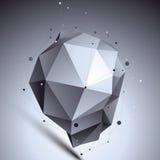 Przestrzenny technologiczny asymetryczny kształt, poligonalny Obraz Royalty Free