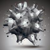Przestrzenny technologiczny kontrasta kształt, poligonalny przerzedże koloru wir Zdjęcie Stock