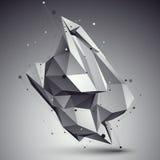 Przestrzenny technologiczny kształt, poligonalny przerzedże koloru eps8 wirefra Zdjęcie Royalty Free