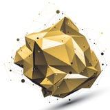 Przestrzenny technologiczny szpotawy kształt z drucianą siatką, poligonalny g royalty ilustracja