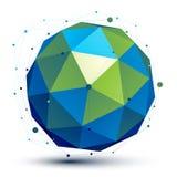 Przestrzenny wektorowy turkusowy cyfrowy przedmiot, 3d technologia Obrazy Royalty Free